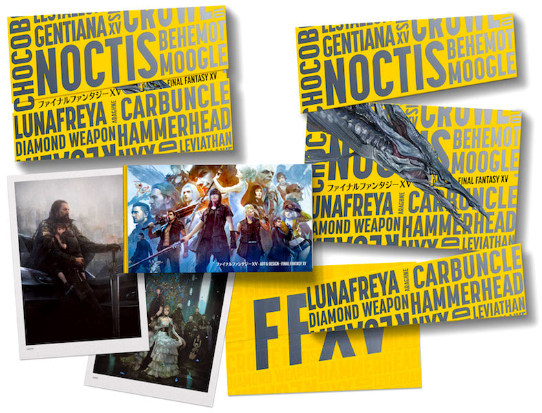 The Art and Design of Final Fantasy XV Collector's Edition - whats in the box