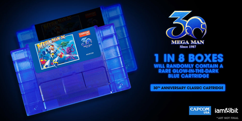 Mega Man X - 30th Anniversary Glow in the dark cartridge