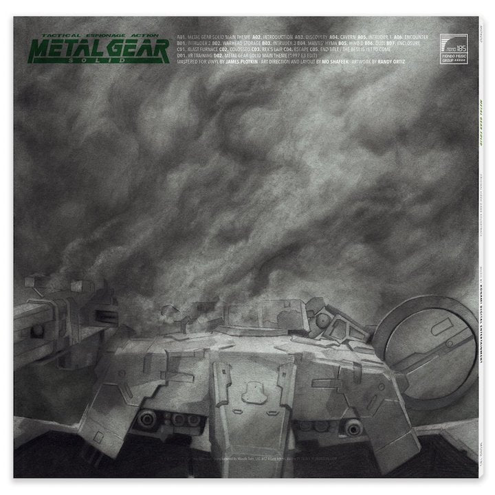 Metal Gear Solid Original Video Game Soundtrack rear artwork