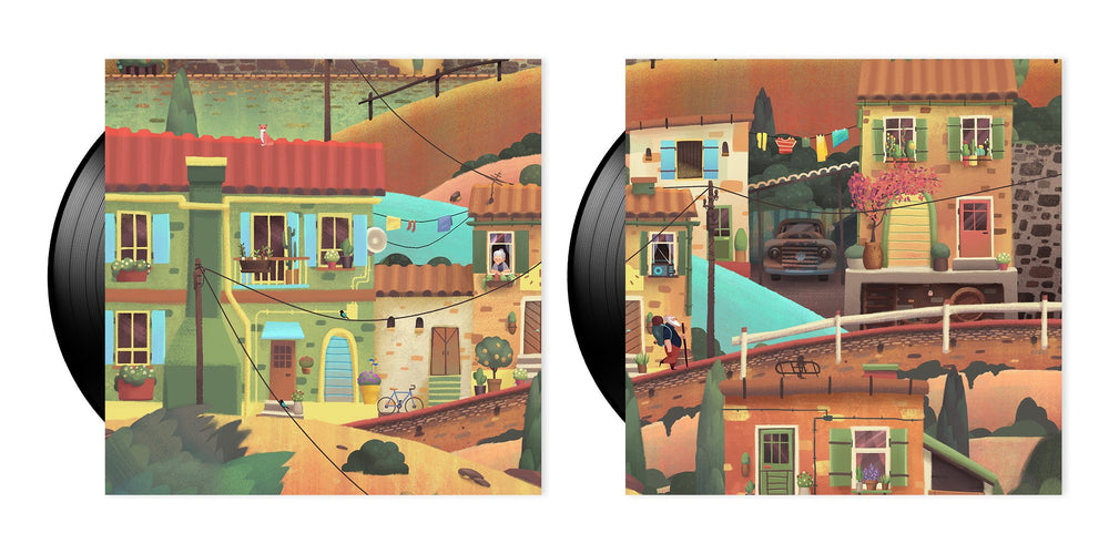 Old Man's Journey Soundtrack LP inner gatefold art
