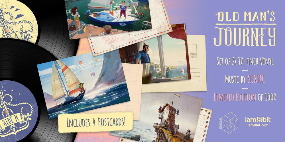 Old Man's Journey Soundtrack LP postcards