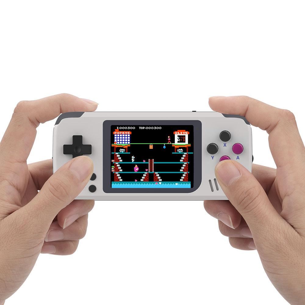 POCKETGO RETRO CONSOLE being held in hands