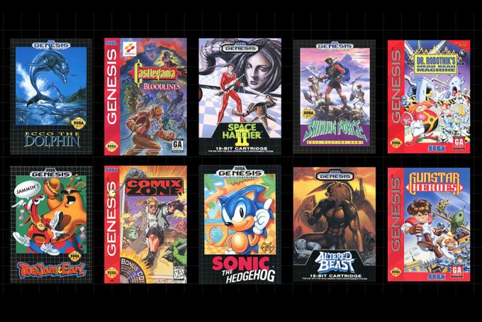 Sega Mega Drive Mini Console included games