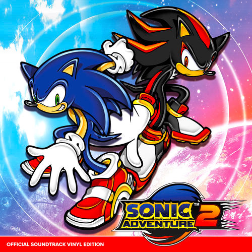 Sonic Adventure 2 Official Soundtrack Vinyl Record Cover