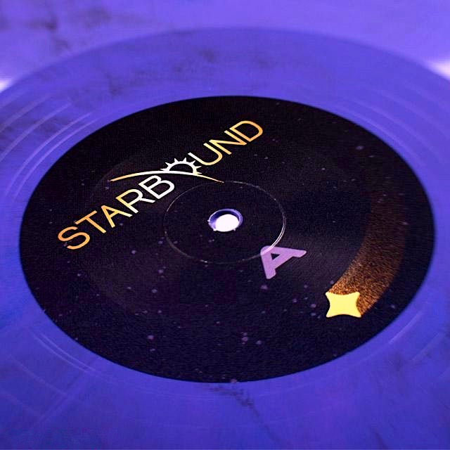 Starbound LP Purple Vinyl Close Up