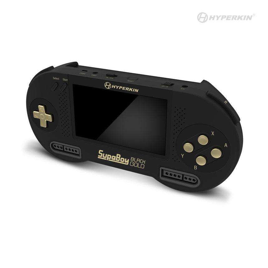 SupaBoy Black Gold Portable Pocket Console For SNES