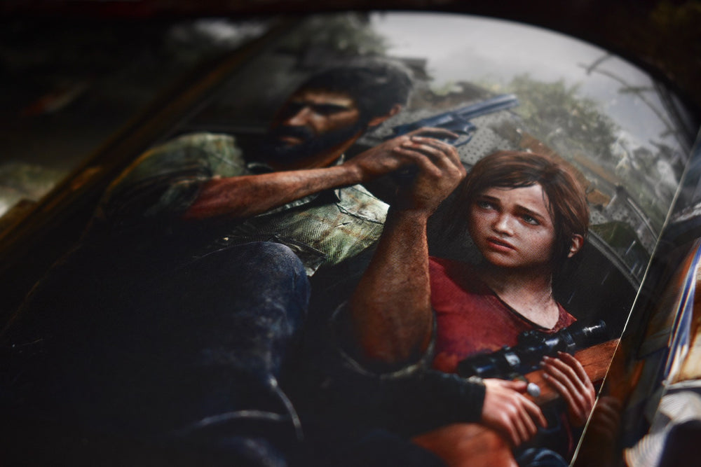 Last of us art with Joel and Ellie