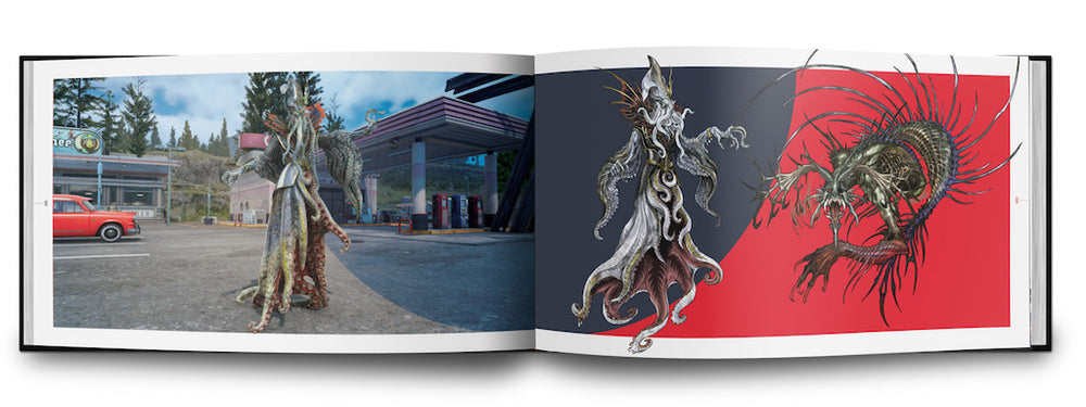 The Art and Design of Final Fantasy XV inside book artwork