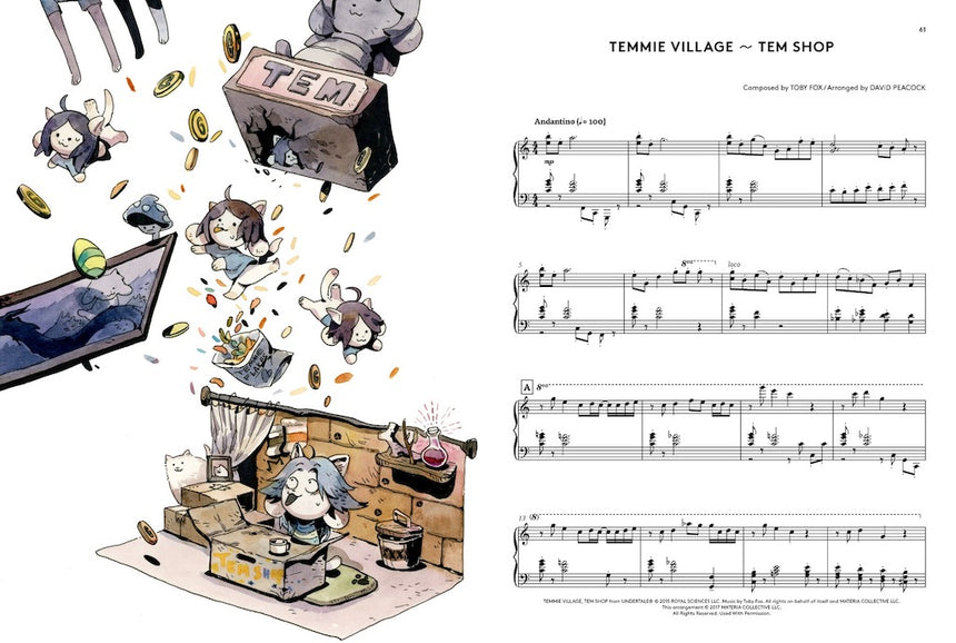 UNDERTALE Piano Collections 2 Sheet Music Book 9