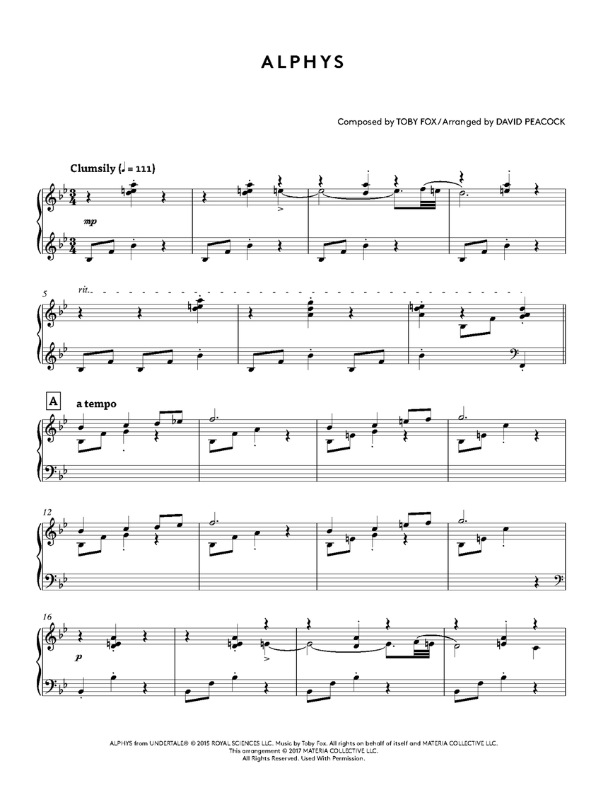 UNDERTALE Piano Collections Physical Sheet Music 3