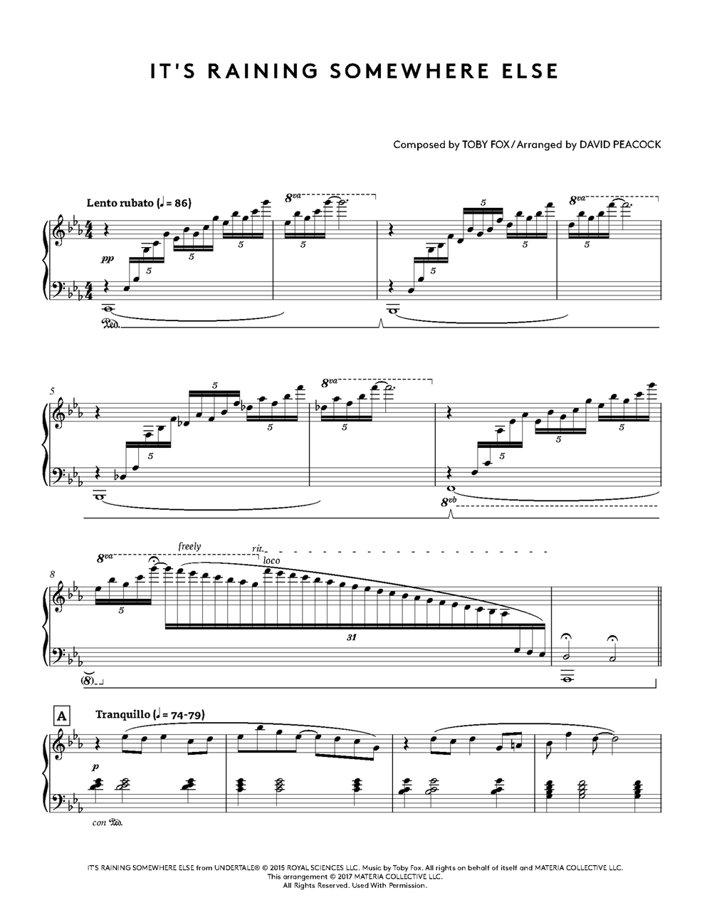 UNDERTALE Piano Collections Sheet Music