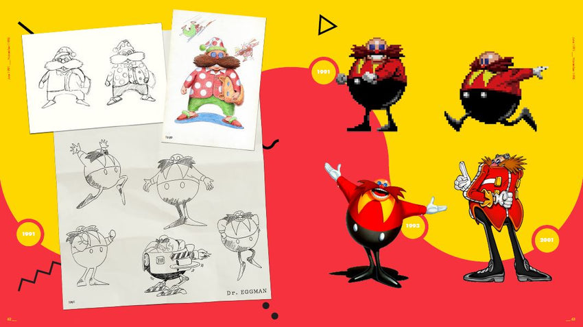 Sonic the Hedgehog 25th Anniversary Dr Robotnik (Eggman) Concept Sketches