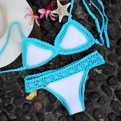 Crocheted Brazilian Neoprene Sexy Bikini