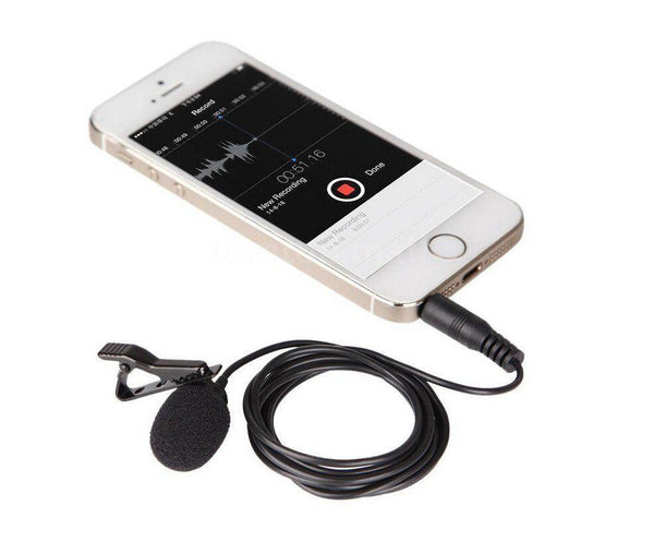 Omnidirectional Lavalier Microphone for iPhone and Samsung