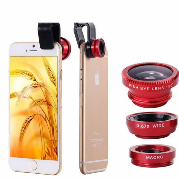 Fisheye and Macro Lens for Iphone 7, 6, 5 and Samsung Galaxy
