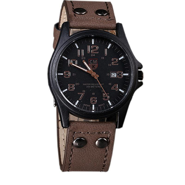 Leather Strap Analog Watches