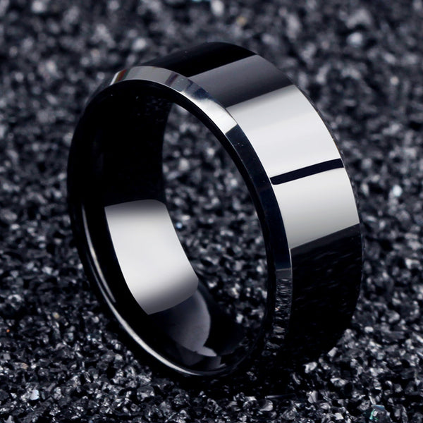 Stainless Steel Black Rings For Women