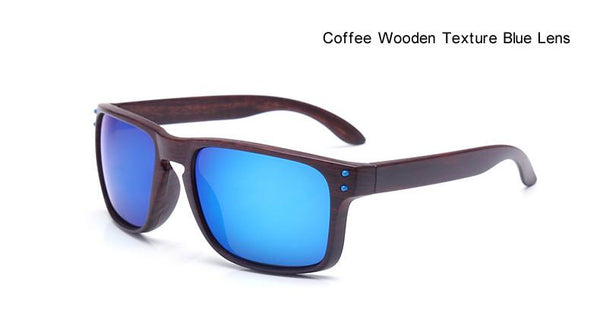 Trendy Woodgrain Sunglasses