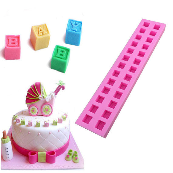 Baby Shower ABC Building Blocks Mold