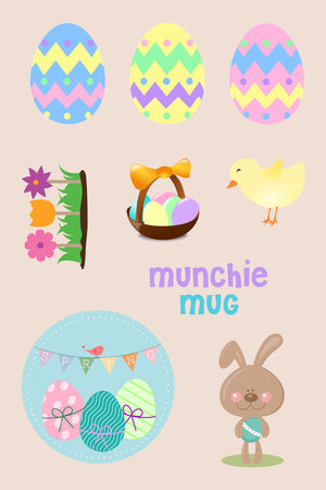 Dishwasher Safe EASTER Stickers - Munchie Mug Canada