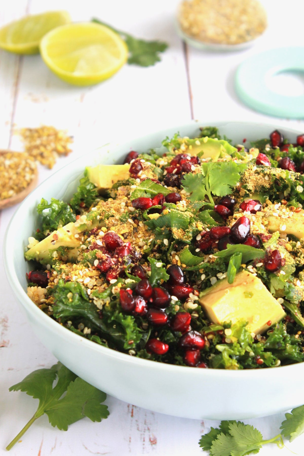 The 'Live Love Nourish' Kale, Quinoa & Pomegranate Salad