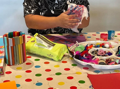 Creative arts are an important bonding exercise and with the support of the team at Bear Cottage the families do not need to worry about cleaning up or cooking. So they have time to spend together.