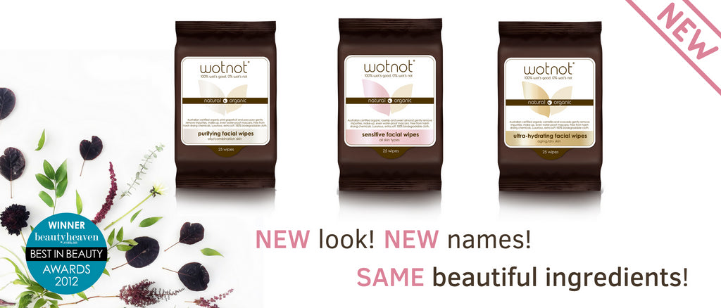 New look for Wotnot facial wipes