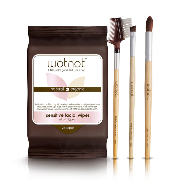 Makeup Brush Essentials + FREE Facial Wipes
