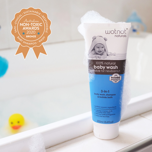 100% Natural 3-in 1 Baby Wash, Shampoo & Bubble Bath