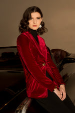 Ruby - Structured Stretch Velvet Blazer