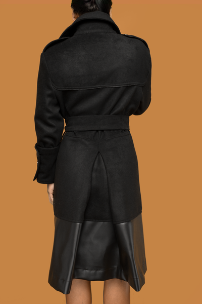 Black Dipped Coat