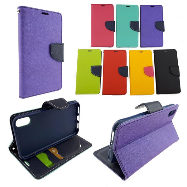 Leather Wallet Case - Samsung Galaxy S4 - S6