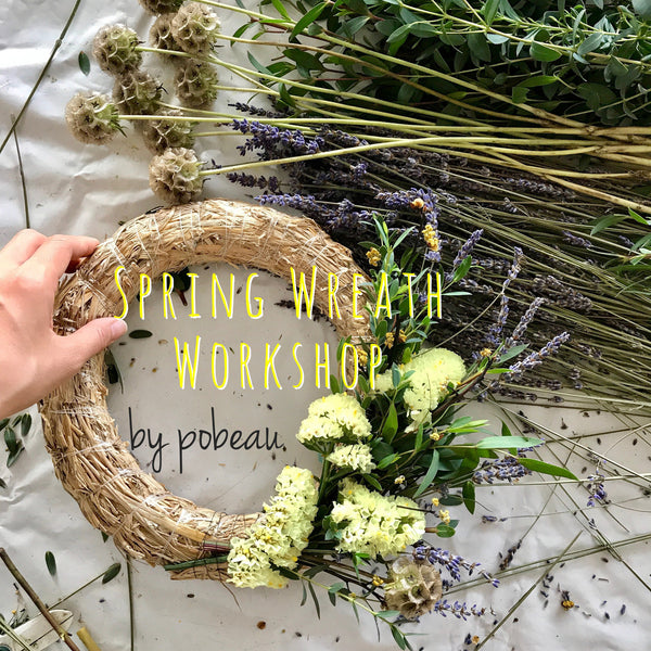 Spring wreath workshop - Pobeau
