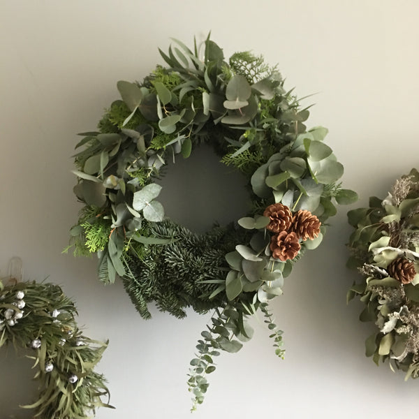 Christmas Wreath Pinecone - Pobeau