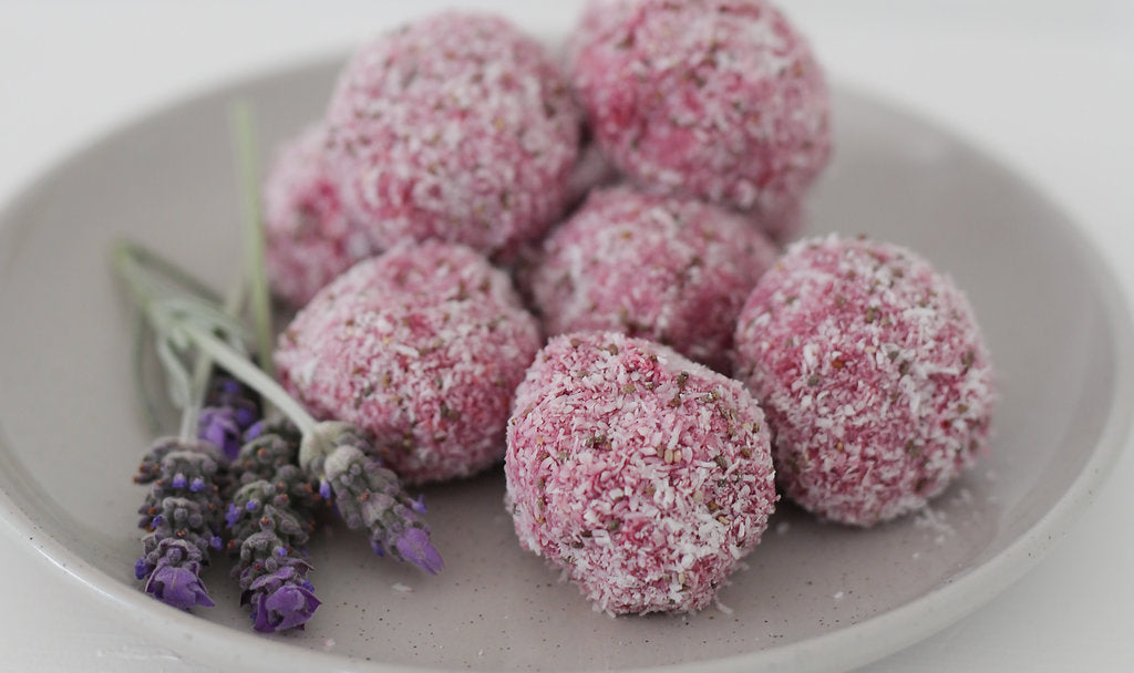 Raspberry Prebiotic Bliss Balls