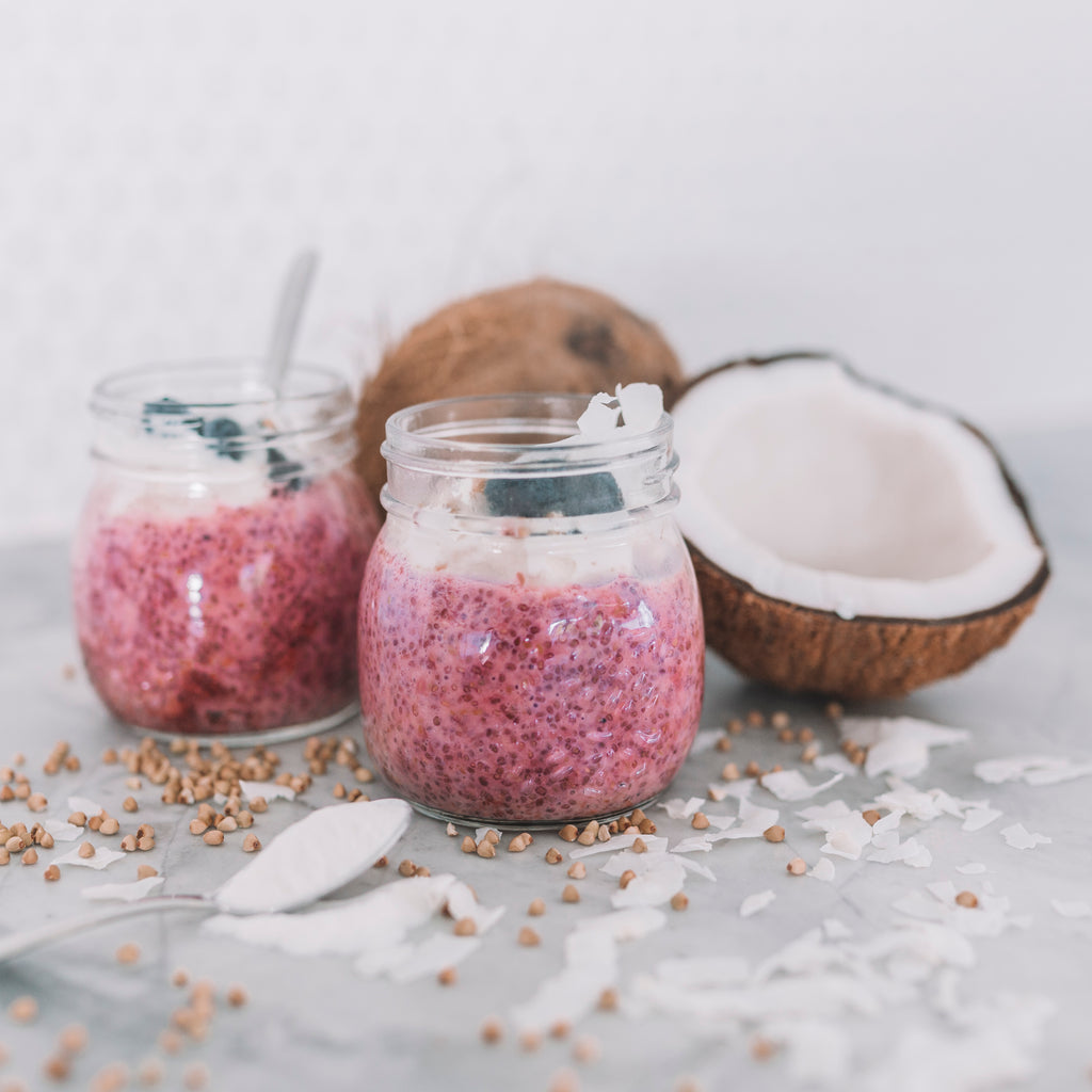 Raspberry Chia Puddings