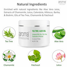 Load image into Gallery viewer, Aroma Treasures Tea Tree Aloe Gel to clear Acne & Pimple, making the skin clean, smooth & soft. (50g ) - Aroma Treasures.com