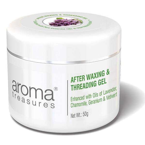 Aroma Treasures After Waxing & Threading Gel {With Aloe Vera Juice & Lavender Oil} (50gms)
