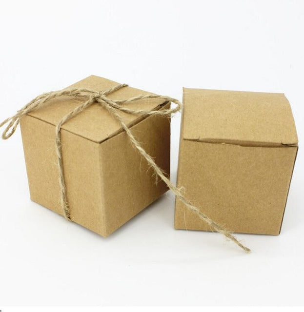 Brown Kraft Paper Box - 3*3*3 inches,  Cosmetic Junction