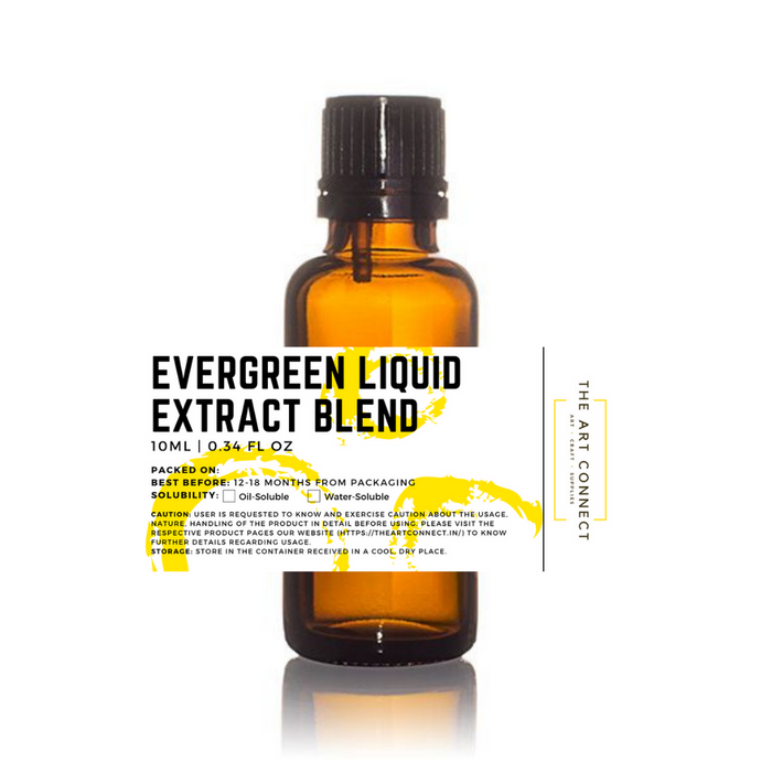 Buy Evergreen Liquid Extract Blend Online in India - The Art Connect