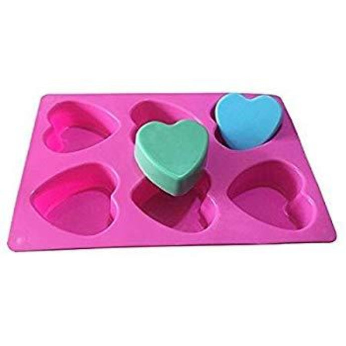 Buy Heart Silicone Silicone Moulds for Soap Making, Chocolate Making and Baking Online in India - The Art Connect