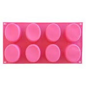 Buy Oval Silicone Soap Mould - 100gms Silicone Moulds for Soap Making, Chocolate Making and Baking Online in India - The Art Connect
