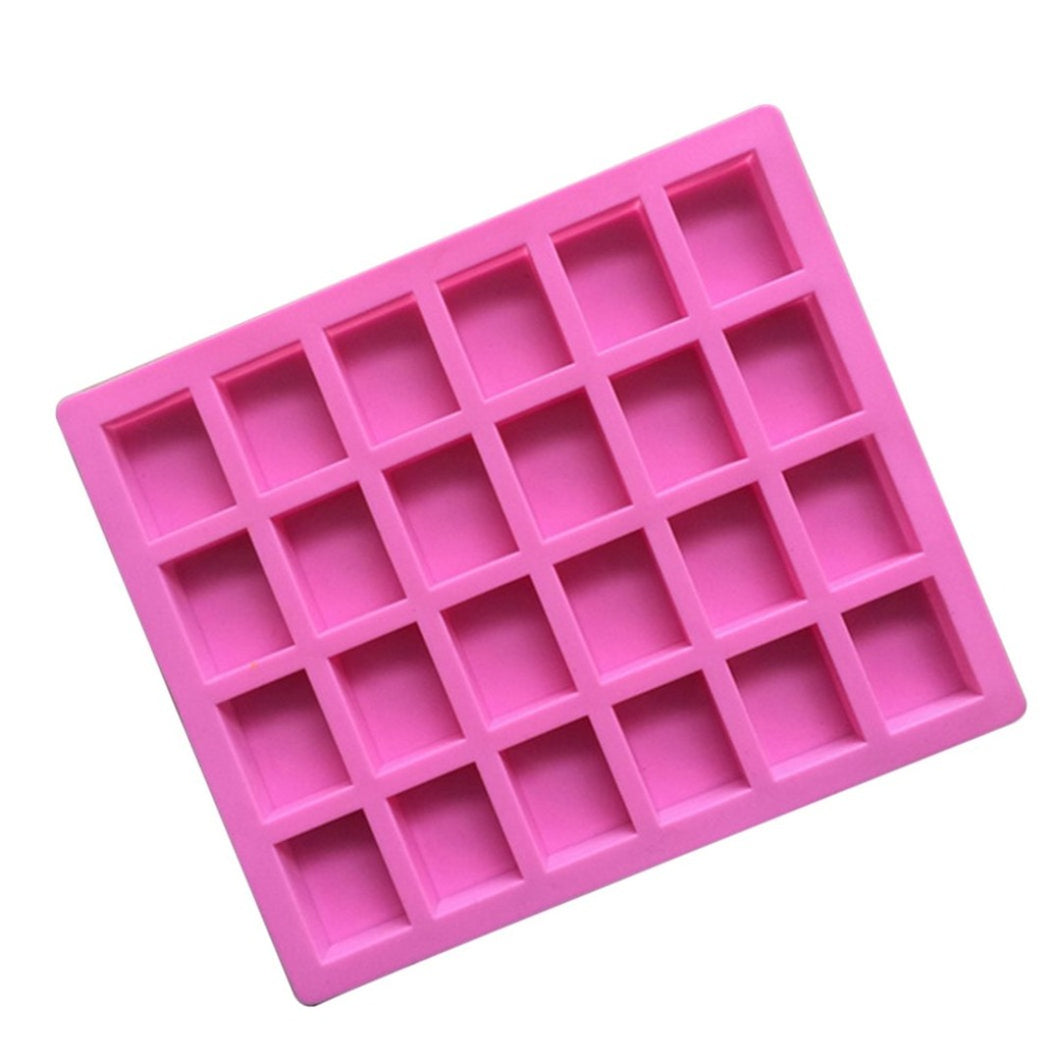 Buy Rectangle Silicone Soap Mould - 15gms Silicone Moulds for Soap Making, Chocolate Making and Baking Online in India - The Art Connect