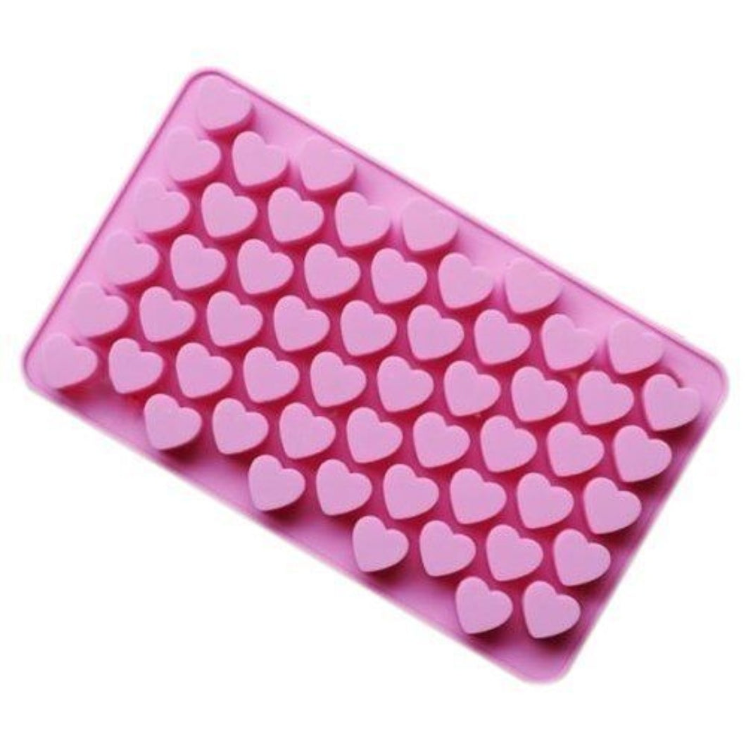 Buy Small Heart Embeds Silicone Soap Mould Silicone Moulds for Soap Making, Chocolate Making and Baking Online in India - The Art Connect