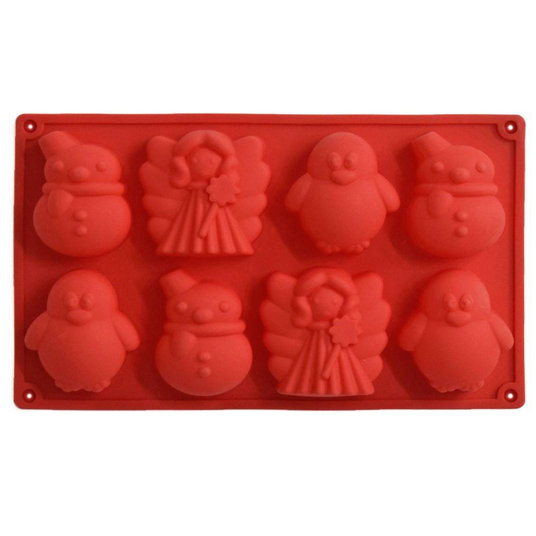 Buy Snowman, Penguin, Fairy Silicone Soap Mould Silicone Moulds for Soap Making, Chocolate Making and Baking Online in India - The Art Connect