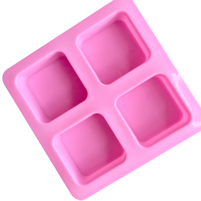 Buy Square Rounded Edge Silicone Soap Mould - 100gms Silicone Moulds for Soap Making, Chocolate Making and Baking Online in India - The Art Connect