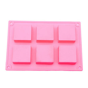 Buy Square Silicone Soap Mould - 60gms Silicone Moulds for Soap Making, Chocolate Making and Baking Online in India - The Art Connect