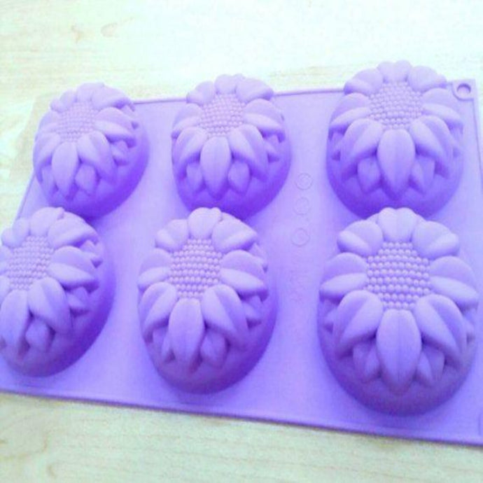 Buy Sunflower Silicone Soap Mould-125gms Silicone Moulds for Soap Making, Chocolate Making and Baking Online in India - The Art Connect