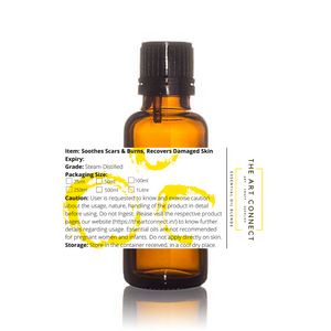 Essential Oil Blend-Soothes Scars & Burns, Recovers Damaged Skin