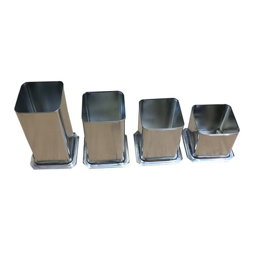 Square (Curved Edges) Metal Pillar Candle Moulds,  The Art Connect